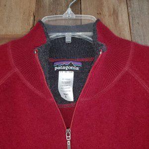 LN Patagonia 100% Cashmere 1/4 Zip Sweater Wine S